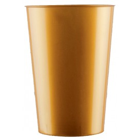 Vaso de Plastico Moon Oro PS 230ml (35 Uds)