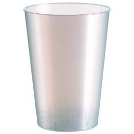 Vaso de Plastico Moon Blanco Pearl PS 230ml (50 Uds)