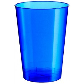 Vaso de Plastico Moon Azul Pearl PS 230ml (50 Uds)