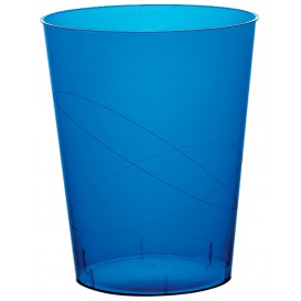 Vaso de Plastico Moon Azul Transp. PS 350ml (20 Uds)