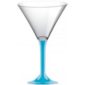 Copa Plastico Cocktail Pie Turquesa 185ml 2P (20 Uds)