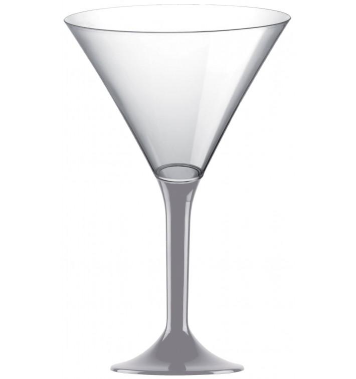 Copa Plastico Cocktail Pie Gris 185ml 2P (20 Uds)