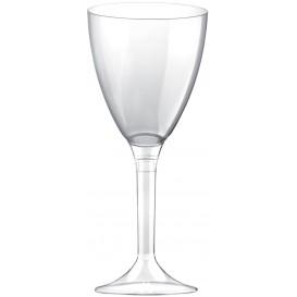 Copa Plastico Vino Pie Transparente 180ml 2P (20 Uds)