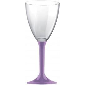 Copa Plastico Vino Pie Lila 180ml 2P (20 Uds)