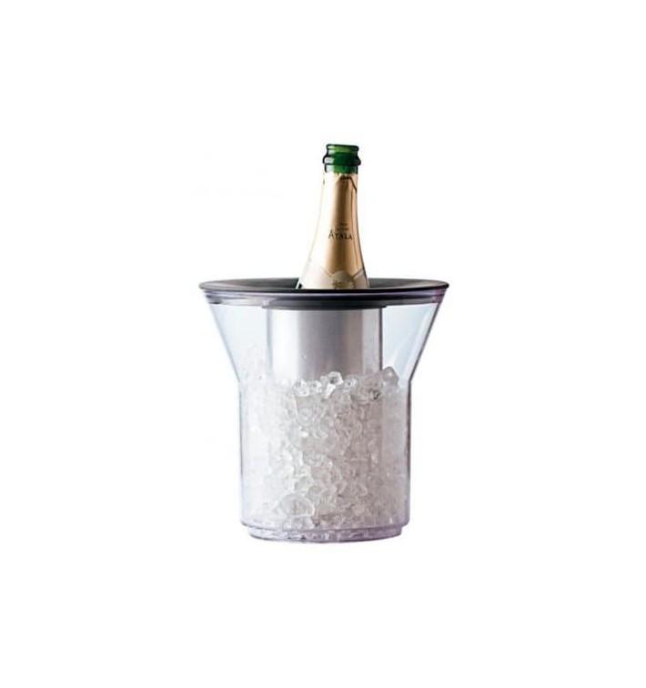 Cubitera de Plastico para 1 Botella Transp. PCTA (1 Ud)