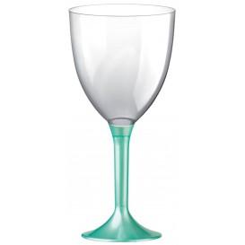 Copa Plastico Vino Pie Tiffany Perlado 300ml 2P (20 Uds)