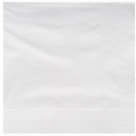 Servilleta de Papel Cenefa 25x25cm Blanca (200 Uds)