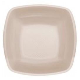 Plato de Plastico Hondo Beige Square PP 180mm (25 Uds)