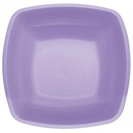 Plato de Plastico Hondo Lila Square PP 180mm (25 Uds)