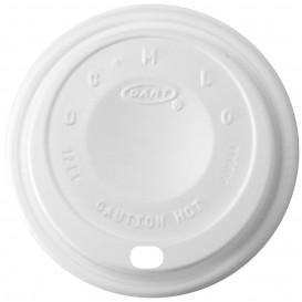"""Tapa de Plastico PS """"Cappuccino"""" Blanca Ø8,9cm (100 Uds)"""