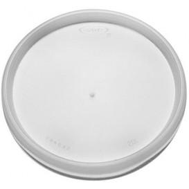 Tapa de Plastico PS Trans. Plana para Foam Ø11,7cm (100 Uds)