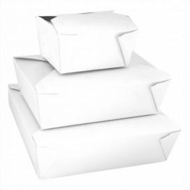 Caja Carton Americana Blanca 113x90x64mm 600ml (50 Uds)