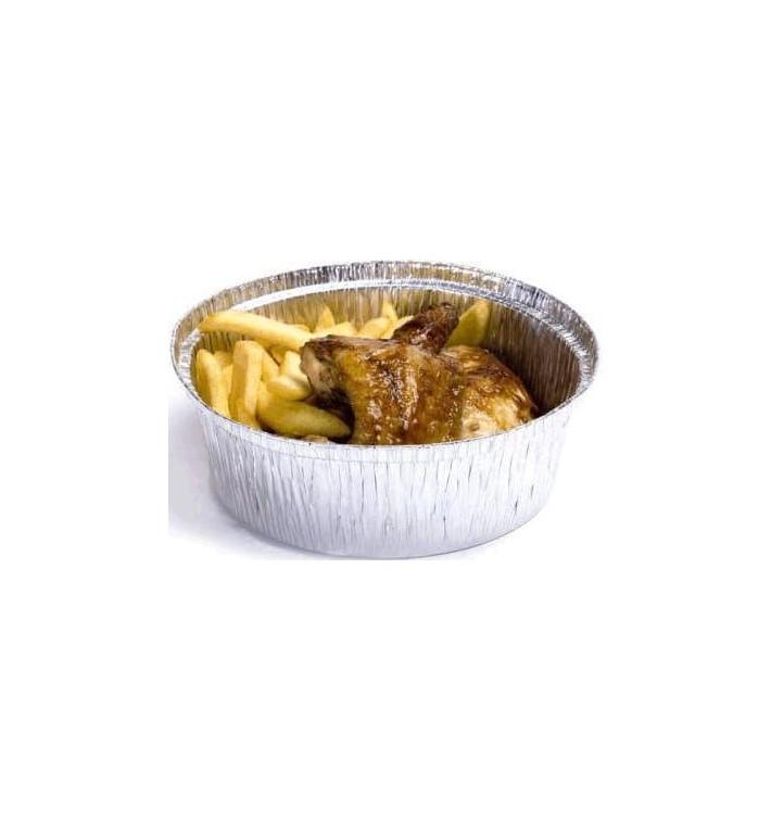 Envase de Aluminio Redondo para Pollos 1900ml (125 Uds)
