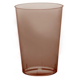 Vaso de Plastico Moon Marron Transp. PS 230ml (50 Uds)