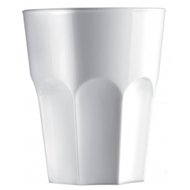 Vaso de Plastico Blanco SAN Ø85mm 300ml (8 Uds)