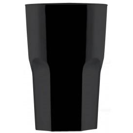 Vaso Reutilizable SAN Granity Negro 400 ml (5 Uds)