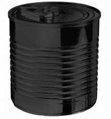 Botes de Conserva Negro PS 110ml 6x5,7cm (25 Uds)
