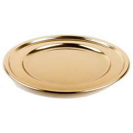 Bajoplato de Plastico PET Redondo Oro 30 cm (5 Uds)
