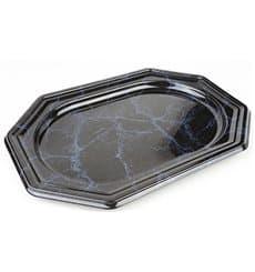 Bandeja de Plastico Octogonal Marmol 27x19 cm (5 Uds)