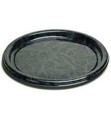 Bandeja Plastico Redonda Marmol 46 cm (5 Uds)