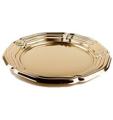 Bandeja Plastico Redonda Oro 46 cm (5 Uds)
