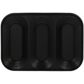 "Bandeja de Plastico PP ""X-Table"" 3C Negro 330x230mm (2 Uds)"