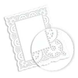 Blonda de Papel calada blanca LITOS 14x24cm (250 Uds)