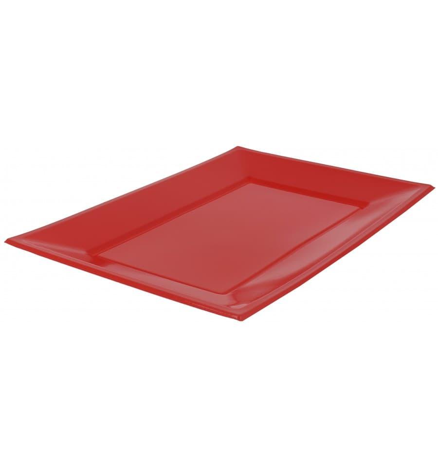 Bandeja de plastico roja 330x225mm 3 uds - Bandeja de plastico ...