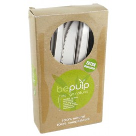 Cuchillo Biodegradable PLA Blanco 160mm en Caja (50 Uds)