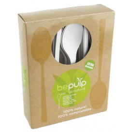 Cucharilla Biodegradable PLA Blanco 120mm en Caja (50 Uds)