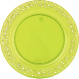 """Plato Plastico Redondo """"Lace"""" Verde 23cm (4 Uds)"""