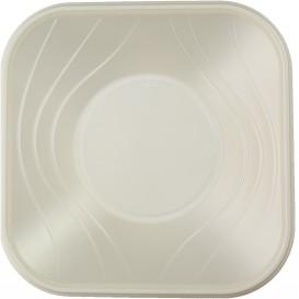 "Bol Plastico PP Cuadrado ""X-Table""  Perla 18x18cm (8 Uds)"