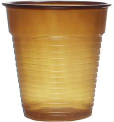 Vaso de Plastico PS Vending Marrón 166ml (100 Uds)
