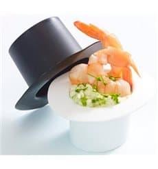 Sombrero Degustación Hot Form Blanco PP 60ml (24 Uds)