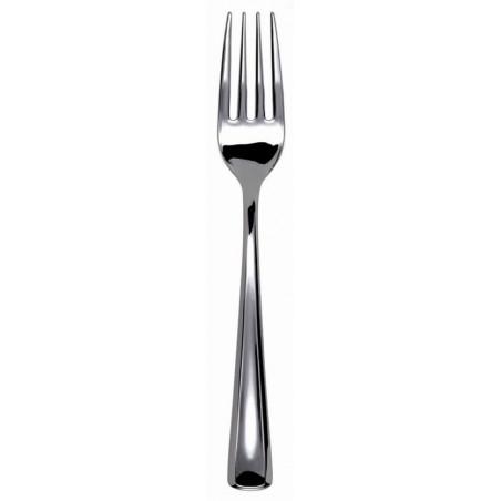 Tenedor de Plastico Metalizado 190mm (50 Uds)