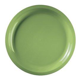 Plato de Plastico Verde Lima Round PP Ø290mm (25 Uds)
