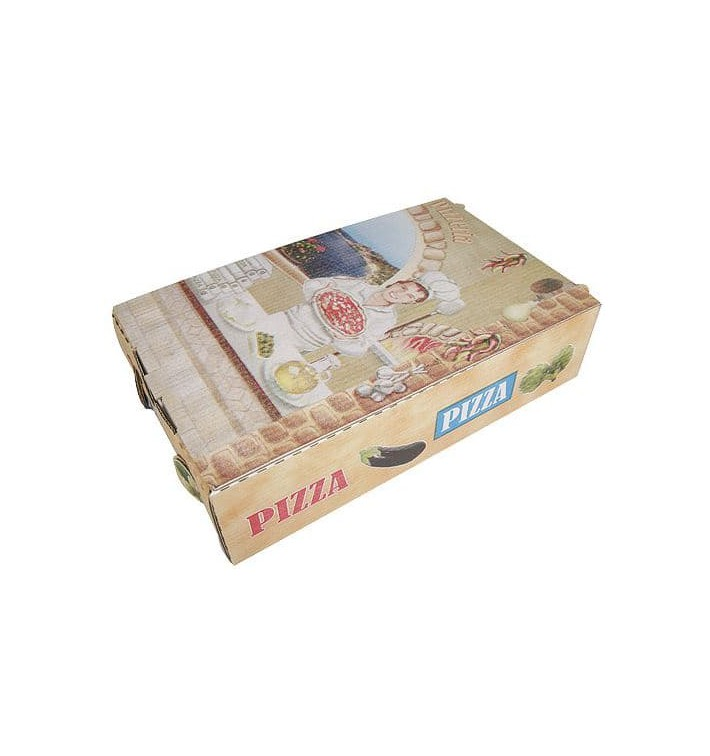 Cajas Pizza Calzone 27x16x7 cm Vegetal (100Uds)