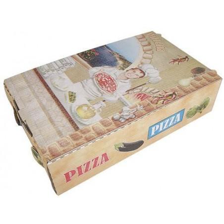 Cajas Pizza Calzone 270x160x70mm Vegetal (100Uds)