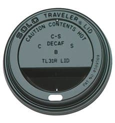 Tapa Negra Agujero Vaso 12,16 y 20 Oz Ø8,9cm (100 Uds)