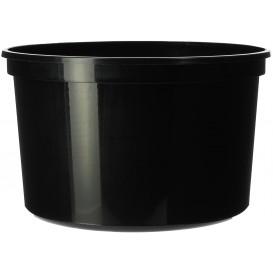 Tarrina de Plastico Negra PP 500ml Ø11,5cm (50 Uds)