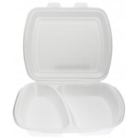 Envase Foam MenuBox 2 C. Blanco 240x210x70mm (125 Uds)