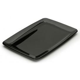Bandeja Plastico Rectangular Dura Negro 20x28 cm (20 Uds)