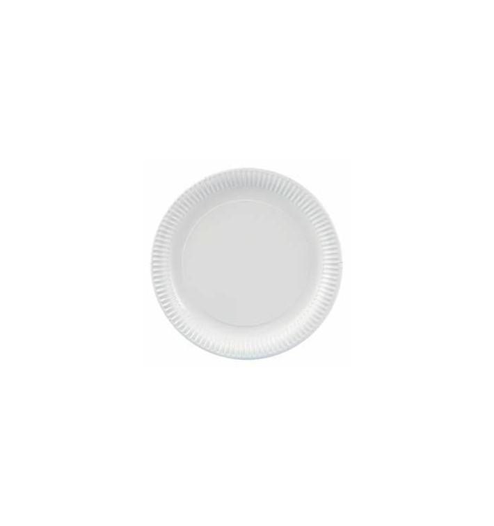 Plato de Carton  Redondo 180 mm (100 Uds)