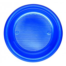 Plato de Plastico PS Hondo Azul Oscuro Ø220mm (30 Uds)