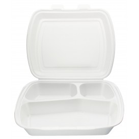Envase Foam MenuBox 3 C. 240x210x70mm (125 Uds)