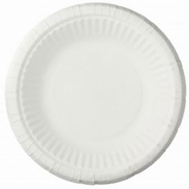 Plato de Papel Hondo Blanco Ø19cm (50 Uds)