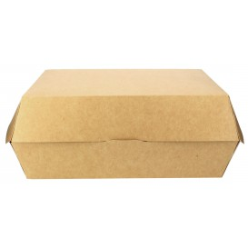 Caja Kraft para Hamburguesa Gigante 23x17,5x8 cm (25 Uds)