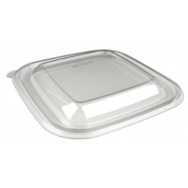 Tapa de Plástico PET para Bol Termosellable de 120x120x70mm (50 Uds)