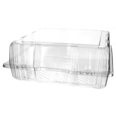 Envase Tapa Bisagra para Respotería PET 25x25x10cm (20 Uds)