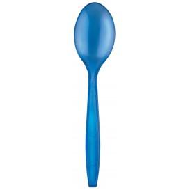 Cuchara de Plastico PS Premium Azul 190mm (50 Uds)